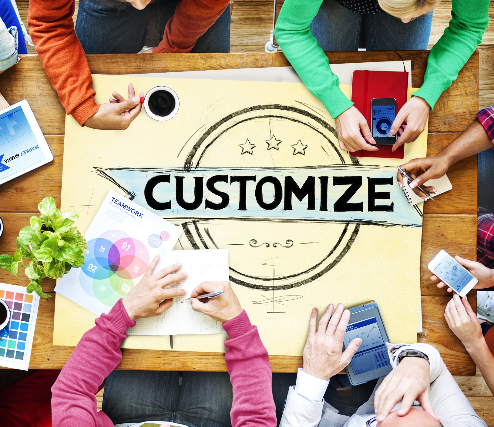 Customize Customization Customizing Change Concept