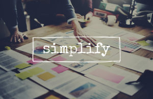 Simplify Simpleness Clarify Easiness Minimal Concept